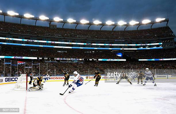 Max Pacioretty of the Montreal Canadiens scores against goaltender Tuukka Rask of the Boston Bruins during the third period of the 2016 Bridgestone...