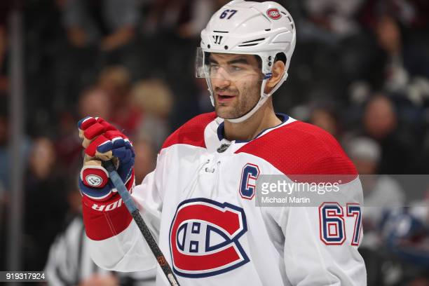 Max Pacioretty of the Montreal Canadiens skates against the Colorado Avalanche at the Pepsi Center on February 14 2018 in Denver Colorado The...