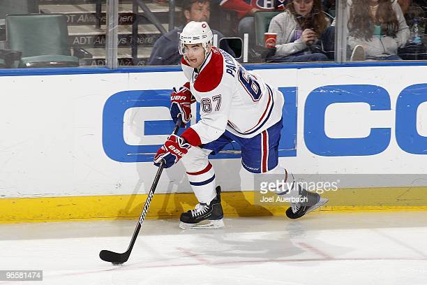 Max Pacioretty of the Montreal Canadiens skates against the Florida Panthers on December 31 2009 at the BankAtlantic Center in Sunrise Florida The...