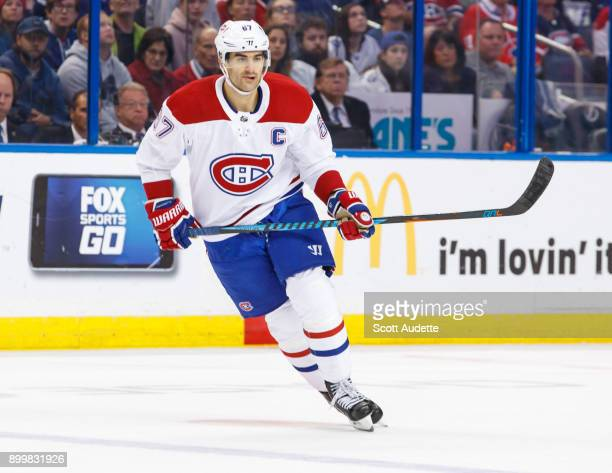 Max Pacioretty of the Montreal Canadiens skates against the Tampa Bay Lightning at Amalie Arena on December 28 2017 in Tampa Florida 'n