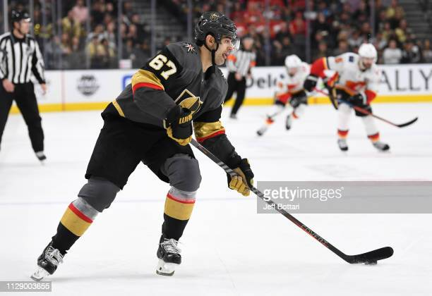 Max Pacioretty of the Vegas Golden Knights skates during the third period against the Calgary Flames at TMobile Arena on March 6 2019 in Las Vegas...