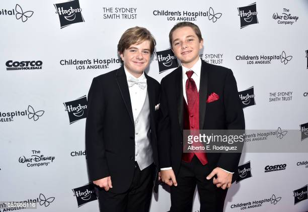 Max Page and Els Page attend the 2018 Children's Hospital Los Angeles 'From Paris With Love' Gala at LA Live on October 20 2018 in Los Angeles...