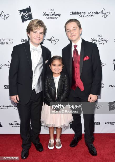 Max Page Eliana Georges and Els Page attends the 2018 Children's Hospital Los Angeles 'From Paris With Love' Gala at LA Live on October 20 2018 in...