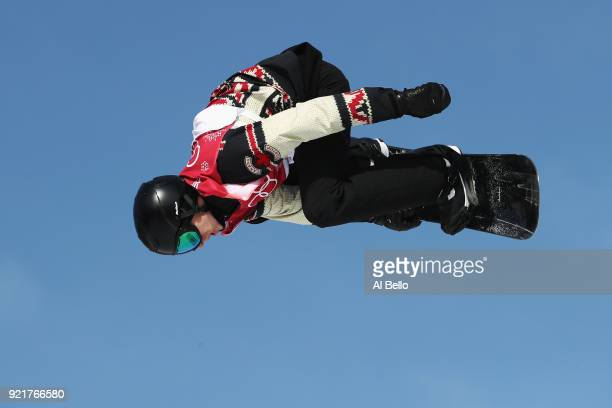 Max Parrot of Canada competes during the Men's Big Air Qualification on day 12 of the PyeongChang 2018 Winter Olympic Games at Alpensia Ski Jumping...