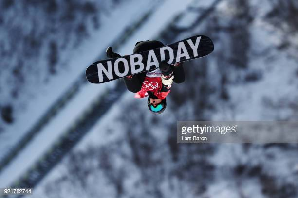 Max Parrot of Canada competes during the Men's Big Air Qualification Heat 1 on day 12 of the PyeongChang 2018 Winter Olympic Games at Alpensia Ski...