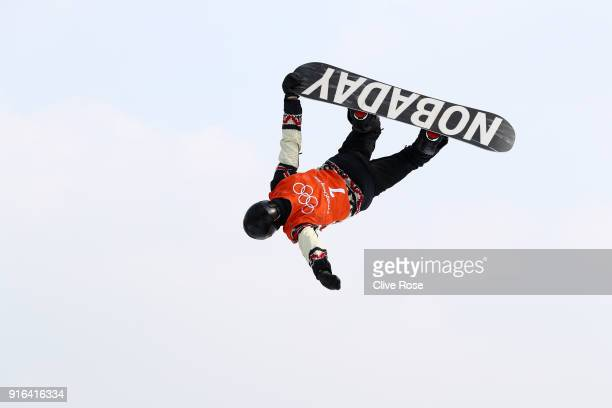 Max Parrot of Canada competes during the Men's Slopestyle qualification on day one of the PyeongChang 2018 Winter Olympic Games at Phoenix Snow Park...