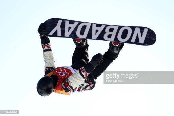 Max Parrot of Canada competes during the Snowboard Men's Slopestyle Final on day two of the PyeongChang 2018 Winter Olympic Games at Phoenix Snow...