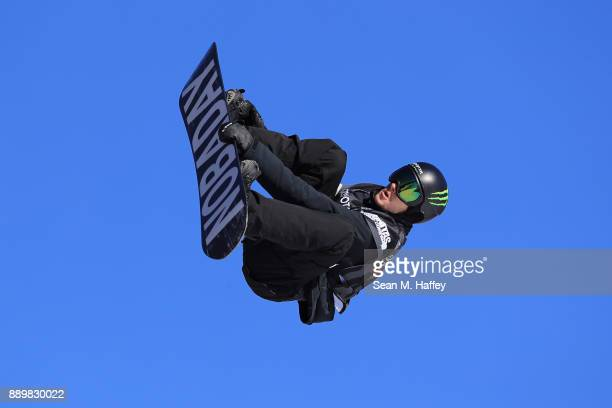 Max Parrot of Canada competes in the final of the FIS Snowboard World Cup 2018 Men's Big Air during the Toyota US Grand Prix on December 10 2017 in...