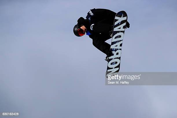 Max Parrot of Canada competes in the final round of the FIS Snowboard World Cup 2017 Men's Snowboard Big Air during The Toyota US Grand Prix at...