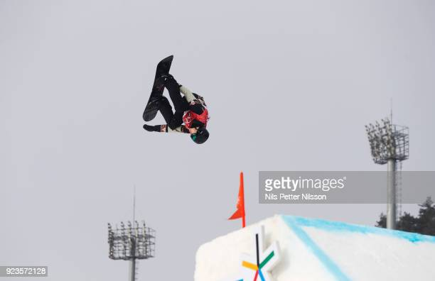 Max Parrot of Canada during the Snowboard Mens Big Air Finals at Alpensia Ski Jumping Centre on February 24 2018 in Pyeongchanggun South Korea