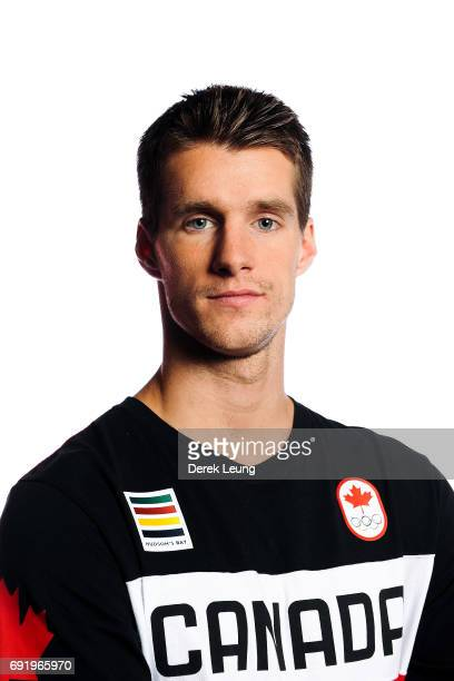 Max Parrot poses for a portrait during the Canadian Olympic Committee Portrait Shoot on June 3 2017 in Calgary Alberta Canada