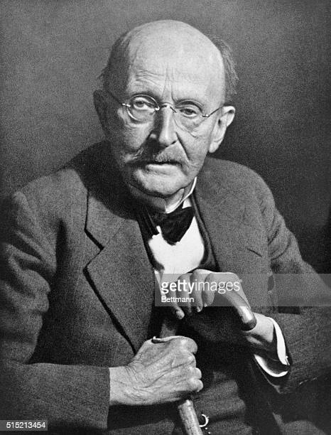 Max Planck , theoretical physicist who developed the theory of quantum physics. Was a professor of physics and philosophy. Portrait taken in 1947.