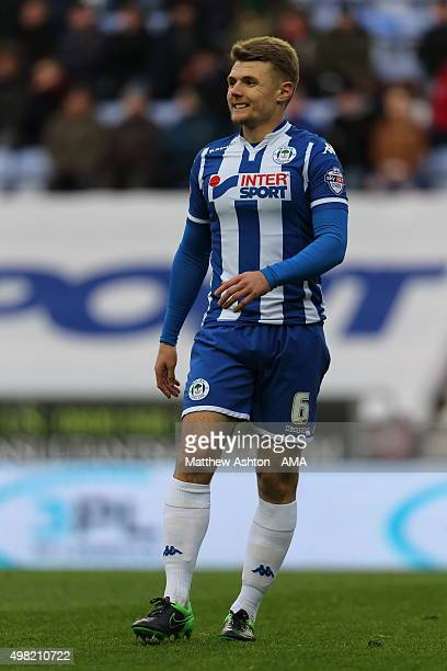 Max Power of Wigan Athletic during the Sky Bet Football League One match between Wigan Athletic and Shrewsbury Town at JJB Stadium on November 21...