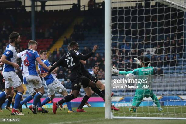 Max Power of Wigan Athletic scores a goal to make it 22 during the Sky Bet League One match between Blackburn Rovers and Wigan Athletic at Ewood Park...