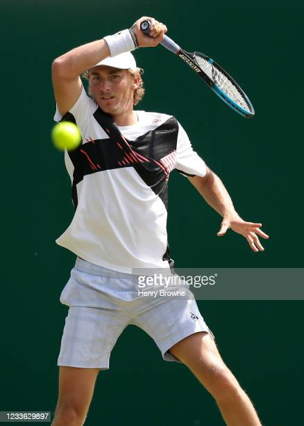 Max Purcell of Australia in action during his mens singles quarter final match against Andreas Seppi of Italy during day 6 of the Viking...