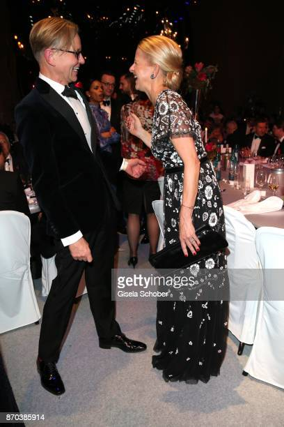 Max Raabe and IKH Princess Mabel von OranienNassau Mabel Wisse Smit widow of Prince Johan Friso von OranienNassau during the aftershow party of the...