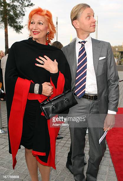 Max Raabe and Zazie De Paris arrive for the opening of the 19th Jewish Film Festival Berlin Potsdam on April 29 2013 in Potsdam Germany The festival...