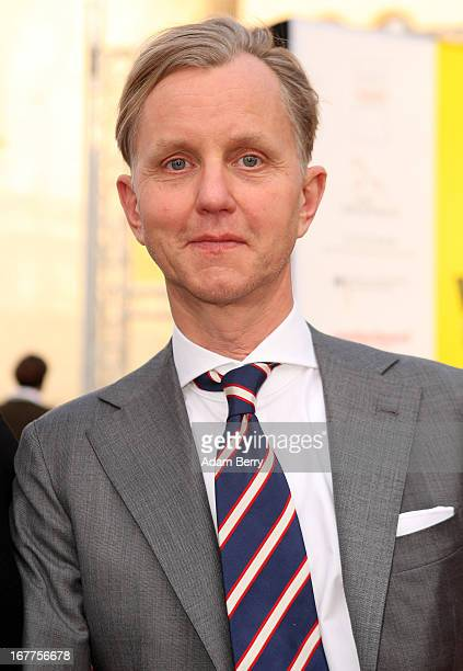 Max Raabe arrives for the opening of the 19th Jewish Film Festival Berlin Potsdam on April 29 2013 in Potsdam Germany The festival was founded in...