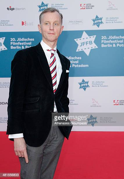 Max Raabe attends the opening gala of the 20th Jewish Filmfestival Berlin Potsdam at Hans Otto Theater on March 30 2014 in Potsdam Germany
