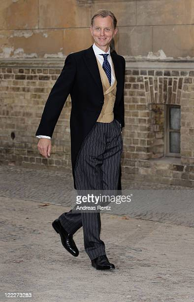 Max Raabe attends the religious wedding ceremony of Georg Friedrich Ferdinand Prince of Prussia to Princess Sophie of Prussia in the Friedenskirche...