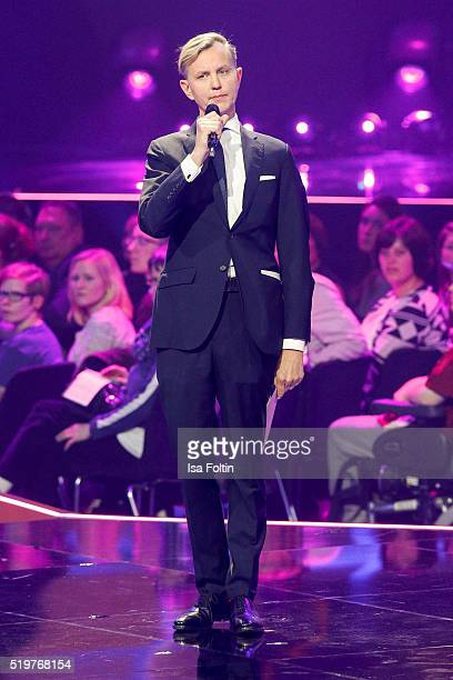 Max Raabe performs on stage during the Echo Award 2016 show on April 07 2016 in Berlin Germany
