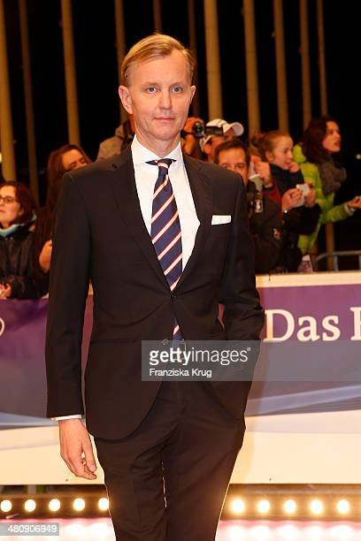 Max Raabe poses on the red carpet prior the Echo award 2014 on March 27 2014 in Berlin Germany