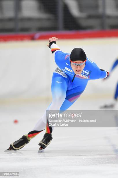 Max Reder of Germany performs during the Men 1500 Meter at the ISU ISU Junior World Cup Speed Skating at Max Aicher Arena on November 26 2017 in...