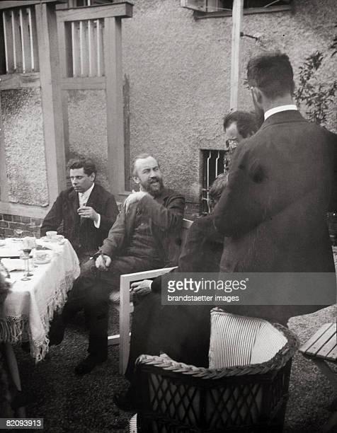 Max Reinhardt Carl Moll Gustav Mahler and Hans Pfitzner in the garden of the Villa Carl Moll Photograph by Moritz Nhr Austria Vienna 1903 [Max...