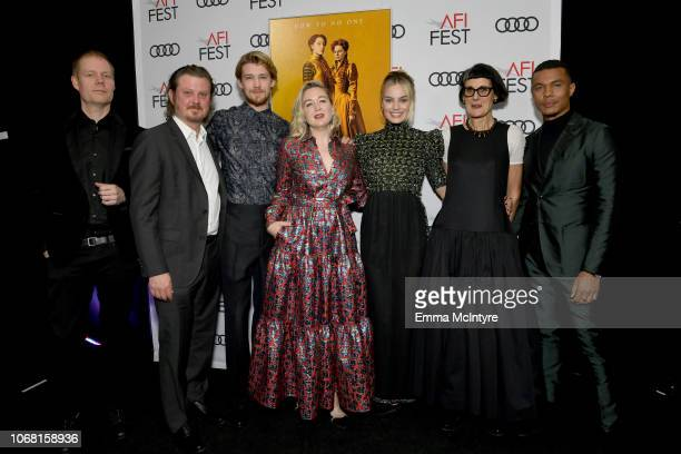 Max Richter Beau Willimon Joe Alwyn Josie Rourke Margot Robbie Alexandra Byrne and Ismael Cruz Cordova attend the closing night world premiere gala...