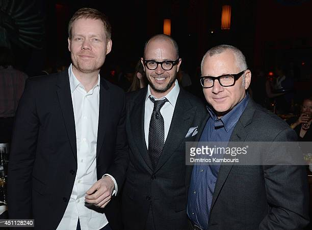 Max Richter Damon Lindelof and Tom Perrotta attend The Leftovers premiere after party at TAO on June 23 2014 in New York City