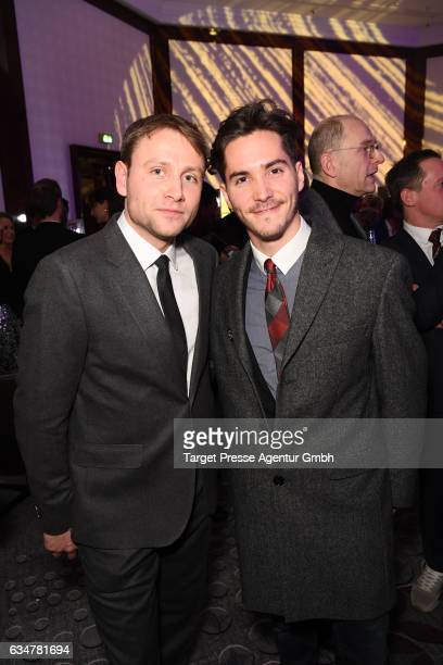 Max Riemelt and guest attend the Medienboard Berlin-Brandenburg Reception during the 67th Berlinale International Film Festival Berlin at on February...