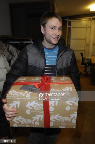 Max Riemelt arrives for the Cassandra Steen Performs Unplugged Private Listening on December 9 2012 in Berlin Germany