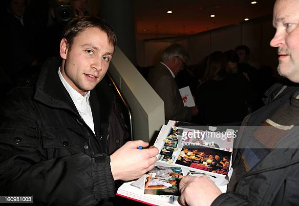 Max Riemelt attends 'Made In Germany' Award Ceremony at Cinemaxx on February 8 2013 in Berlin Germany