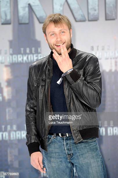 Max Riemelt attends the 'Star Trek Into Darkness' German Premiere at CineStar on April 29 2013 in Berlin Germany