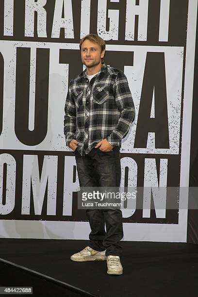 Max Riemelt attends the 'Straight Outta Compton' European premiere at CineStar on August 18 2015 in Berlin Germany