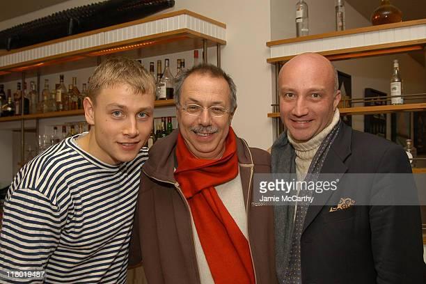 Max Riemelt Dieter Kosslick and Oliver Mahardt during 12th Annual Hamptons International Film Festival Rising Star Brunch at Nick Toni's in...