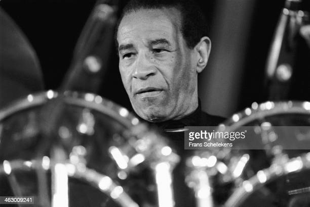 Max Roach, drums, performs the North Sea Jazz Festival in the Hague, the Netherlands on 15 July 1990.