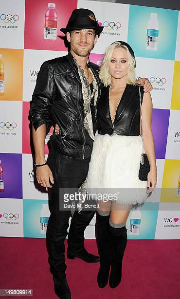 Max Rogers and Kimberly Wyatt arrive as Glaceau vitaminwater presents 'Jessie J Live In London' at The Roundhouse on August 4, 2012 in London,...