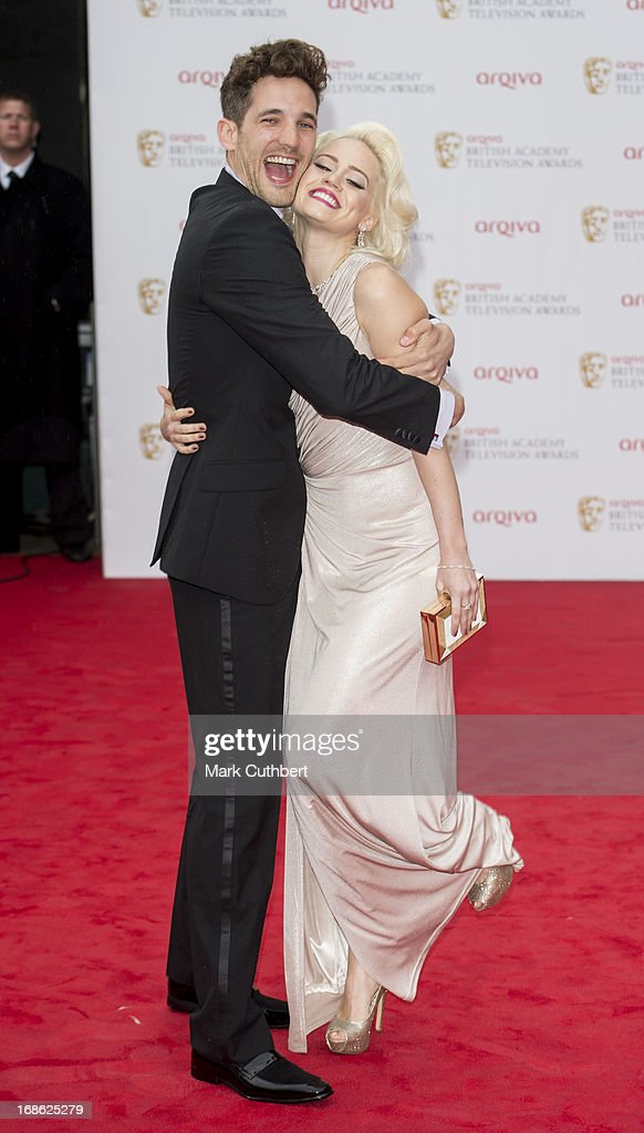Max Rogers and Kimberly Wyatt attend the Arqiva British Academy Television Awards 2013 at the Royal Festival Hall on May 12, 2013 in London, England.