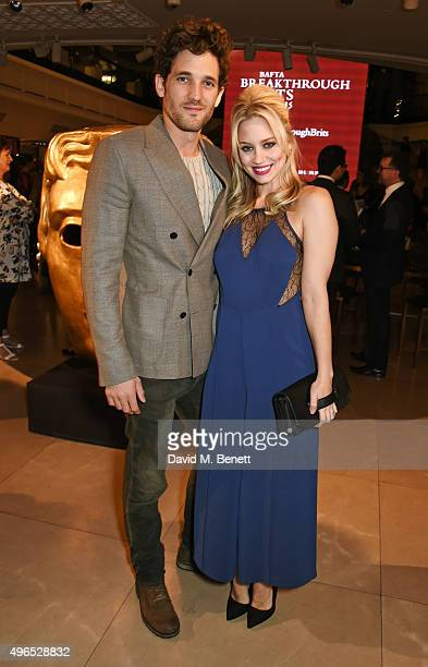 Max Rogers and Kimberly Wyatt attend the BAFTA Breakthrough Brits reception in partnership with Burberry at 121 Regent Street on November 10 2015 in...