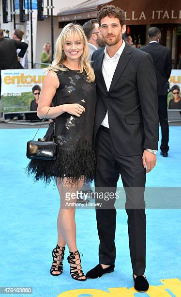 Max Rogers and Kimberly Wyatt attend the European Premiere of Entourage at Vue West End on June 9 2015 in London England