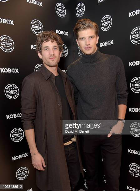 Max Rogers and Toby HuntingtonWhiteley attend the KOBOX Baker Street studio launch on October 25 2018 in London England