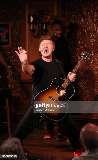 Max Sangerman during the Press Preview Presentation for the new production of 'Smokey Joe's Cafe' at Feinstein's/54 Below on June 27 2018 in New York...