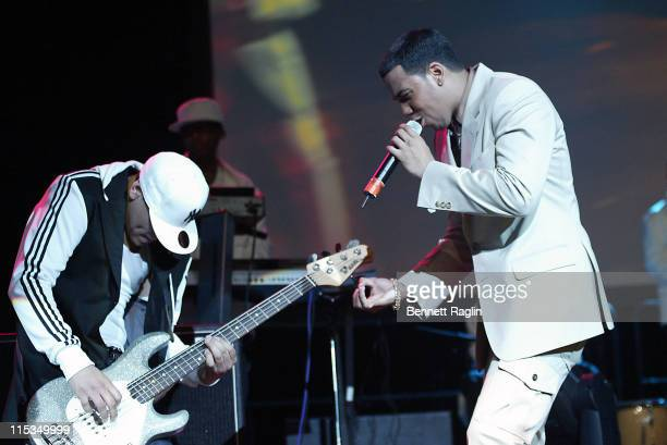 Max Santos and Anthony Santos during Aventura God Project Tour at the Theater at Madison Square Garden March 11 2006 at Theater at Madison Square...