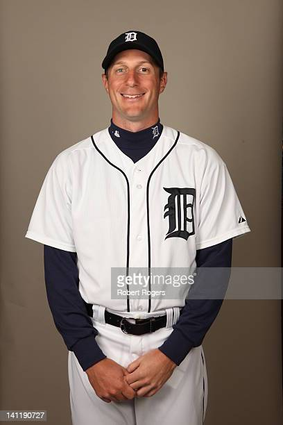Max Scherzer of the Detroit Tigers poses during Photo Day on Tuesday February 28 2012 at Joker Marchant Stadium in Lakeland Florida