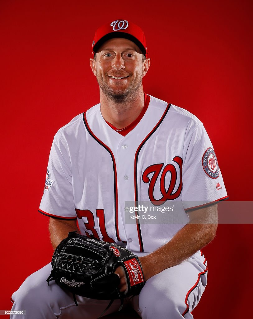 86051655 Max Scherzer of the Washington Nationals poses for a photo during ...