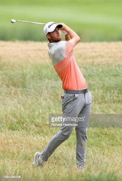 Max Schmidt of Germany plays his approach shot on the 17th hole during Day One of the English Championship at Hanbury Manor Marriott Hotel & Country...