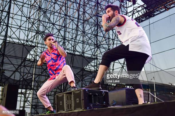 Max Schneider and Ryan Siegel perform during Musikfest at PNC Plaza on the Sands Steel Stage on August 8 2017 in Bethlehem Pennsylvania