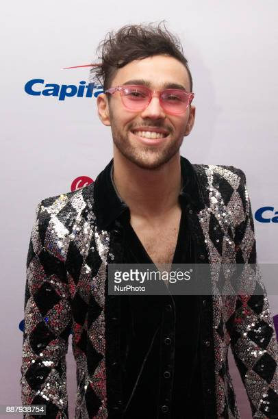 Max Schneider makes a red carpet appearance ahead of the Q102's iHeartRadio Jingle Ball 2017 at the Wells Fargo Center in Philadelphia PA on December...