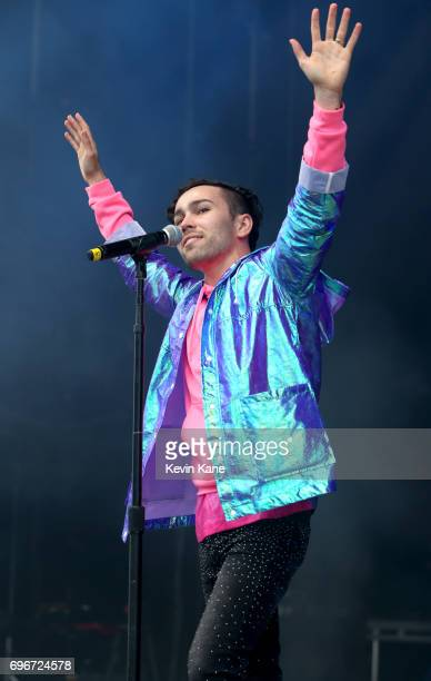 Max Schneider performs on stage during the 2017 BLI Summer Jam at Nikon at Jones Beach Theater on June 16 2017 in Wantagh New York